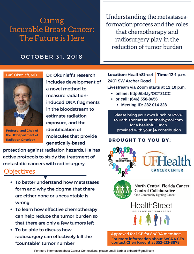 UF Health radiation oncologist and researcher, Dr.Paul Okunieff.