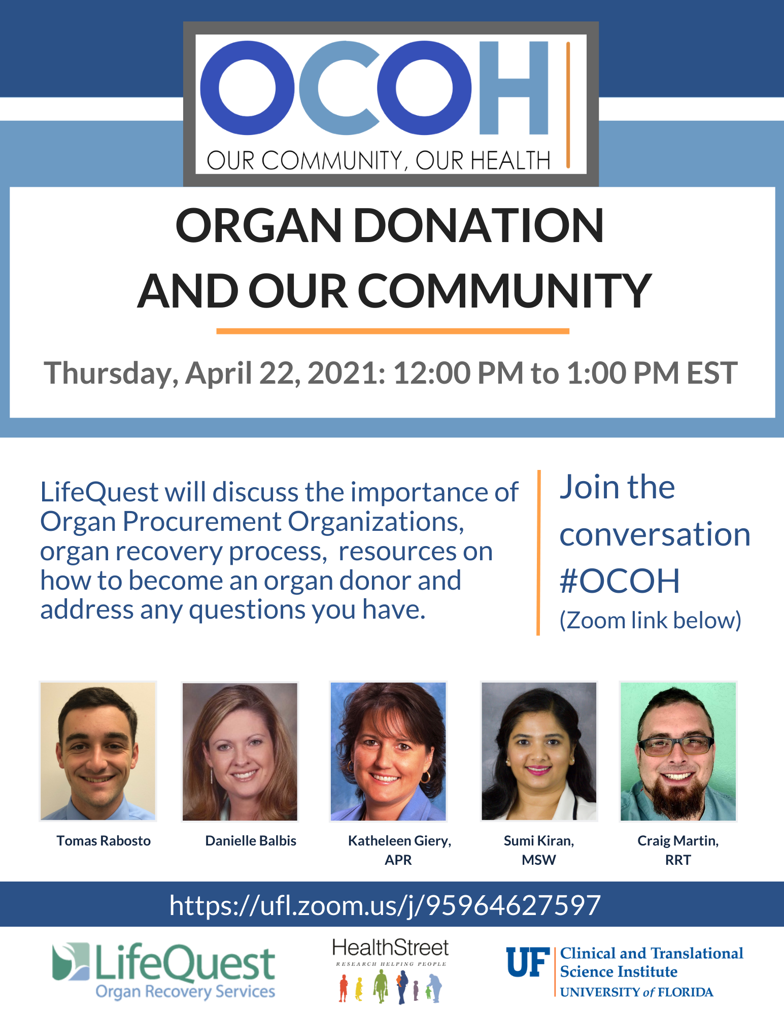 OCOH Organ Donation and Our Community
