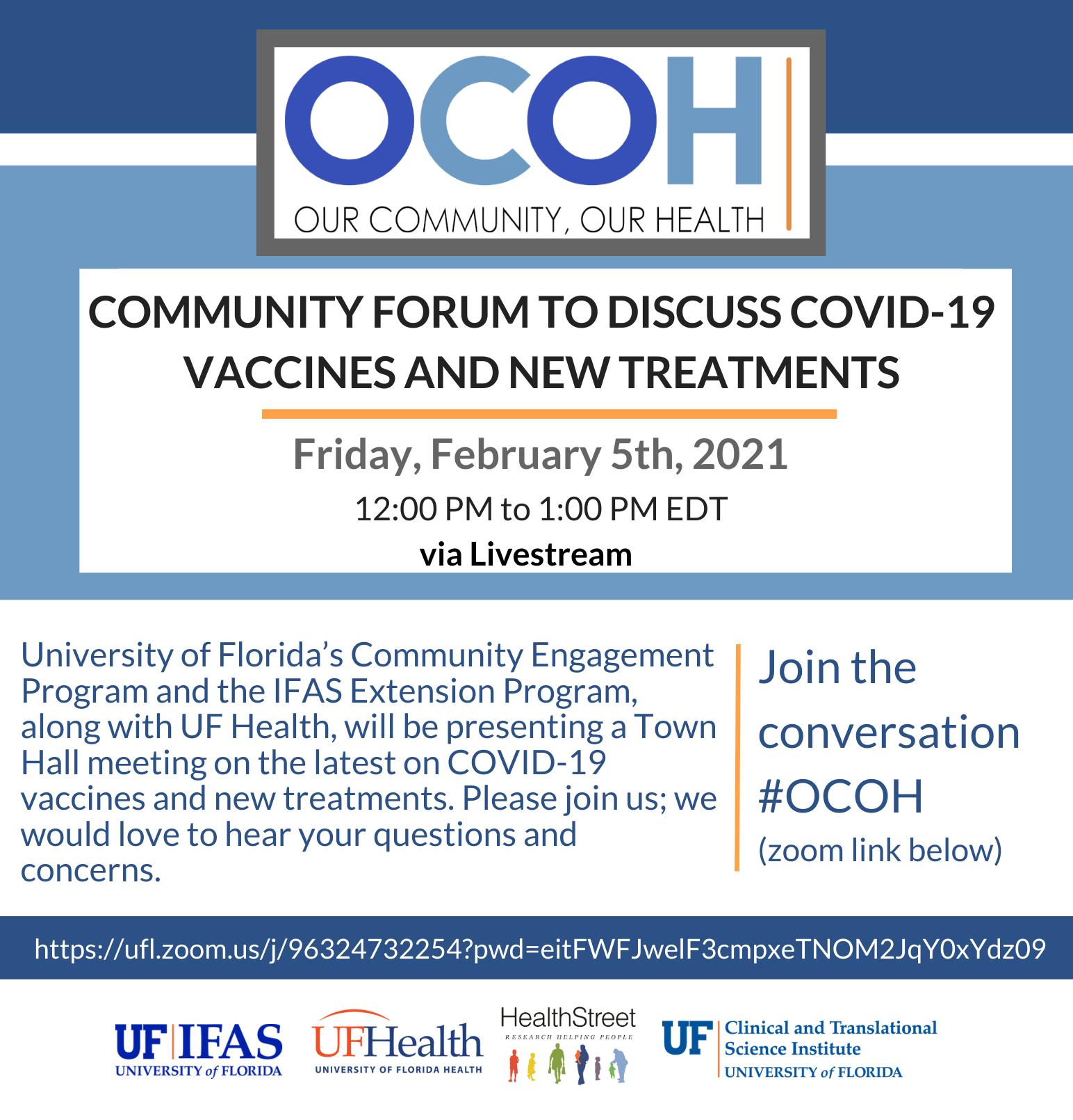 Community Forum OCOH