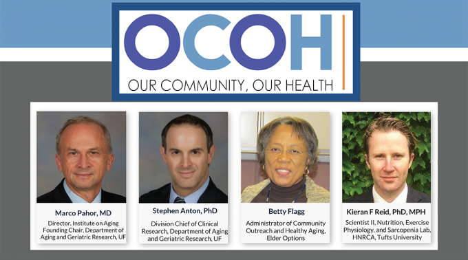 Pictures of the Panelists for the OCOH Town Hall on Healthy Aging -Evidence Based Lifestyle Interventions