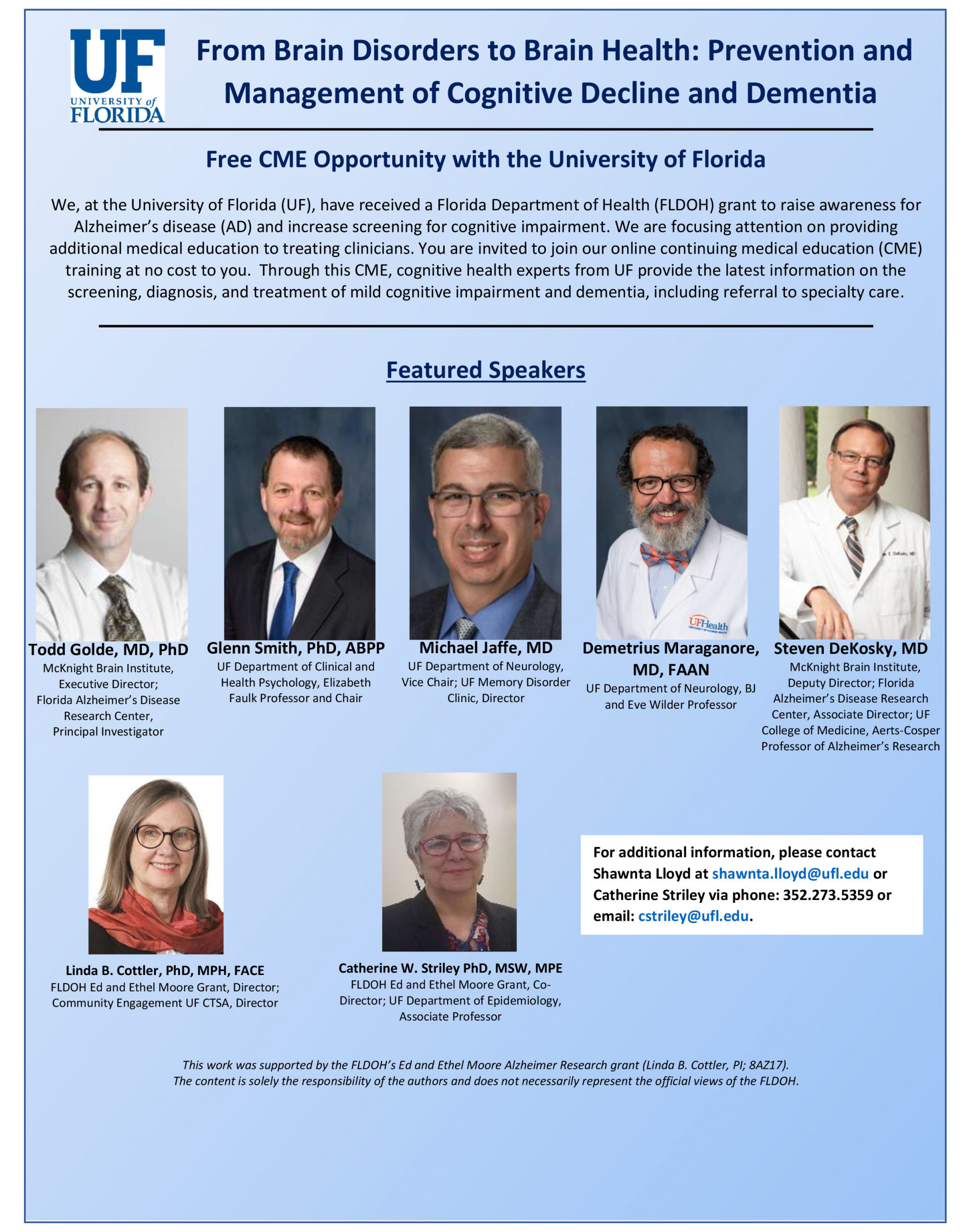 Image of the CME From Brain Disorders to Brain Health Flyer